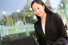 Pretty Asian Business Woman Stock Photos
