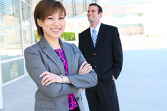 Pretty Asian Business Woman at Office Building Royalty Free Stock Photo