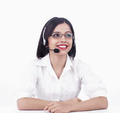 A pretty asian call centre girl Stock Photos