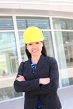 Pretty Asian Construction Woman Royalty Free Stock Image