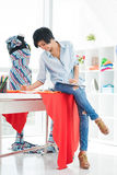 Pretty asian designer Royalty Free Stock Photo