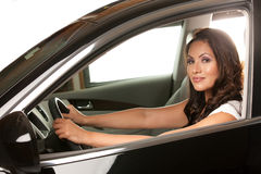 Pretty Asian Female Driver Royalty Free Stock Photo