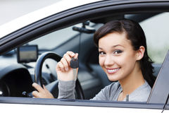 Pretty asian female driver Stock Photography