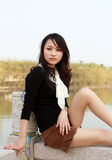 Pretty asian girl Stock Images