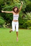 Pretty asian girl in garden Royalty Free Stock Photo