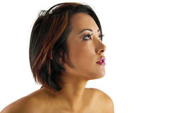 Pretty Asian girl looking at copyspace Royalty Free Stock Photo