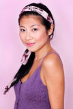 Pretty Asian Girl in Pastels Royalty Free Stock Photos