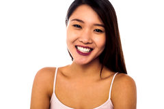 Pretty asian girl posing casually Stock Photography