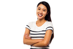 Pretty asian girl posing sweetly Stock Photo