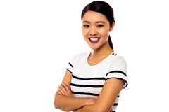 Pretty asian girl posing sweetly with confidence Stock Photos