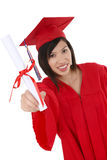 Pretty Asian Graduate Woman Royalty Free Stock Photos