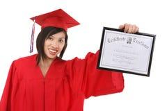 Pretty Asian Graduate Woman Royalty Free Stock Photography