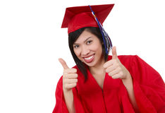 Pretty Asian Graduate Woman Royalty Free Stock Image