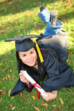 Pretty Asian Graduation Woman Stock Photos