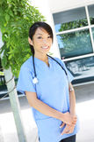 Pretty Asian Nurse at Hospital Stock Images