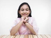 Pretty asian teenage girl Stock Photography