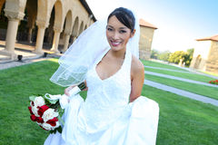Pretty Asian Wedding Bride Royalty Free Stock Image
