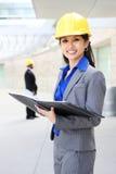 Pretty Asian Woman Architect Stock Image