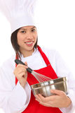 Pretty Asian Woman Chef Stock Images