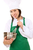 Pretty Asian Woman Chef Royalty Free Stock Photography