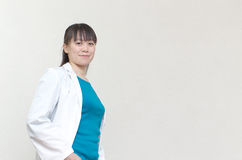 Pretty Asian woman doctor Royalty Free Stock Images