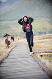 Pretty Asian Woman Outdoor Royalty Free Stock Images
