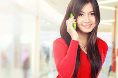 Pretty Asian Woman on the phone Stock Images