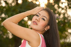 Pretty Asian woman in posing . Stock Images