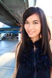 Pretty asian woman smiling Royalty Free Stock Photos
