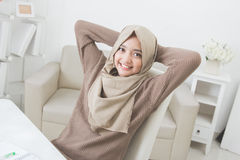 Pretty asian woman wearing hijab Stock Photography
