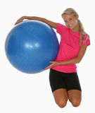 Pretty Athlete with exercise ball Royalty Free Stock Photography