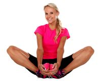 Pretty Athlete Stretching Stock Photography