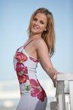 Attractive twenties caucasian blonde woman outdoor Stock Images
