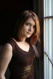 Pretty auburn haired teenage girl Stock Photo