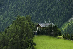 Pretty austrian farmhouse the top of the hil Royalty Free Stock Photography