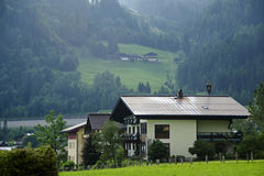 Pretty austrian village Royalty Free Stock Images