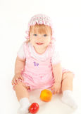 Pretty baby. Studio shot of blond little baby girl Royalty Free Stock Image