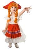 Pretty baby in festival dress Stock Image