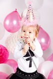 Pretty baby girl with balloons Royalty Free Stock Photography