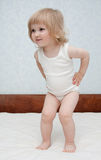 Pretty baby girl playing Royalty Free Stock Photo