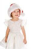 Pretty Baby In Santa Red Hat Stock Image