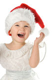 Pretty Baby In Santa Red Hat Royalty Free Stock Photography