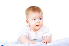 Pretty baby lies Royalty Free Stock Image