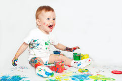 Pretty baby paint Royalty Free Stock Photo