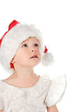 Pretty baby in santa red hat Stock Photography