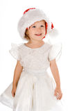 Pretty baby in santa red hat Stock Image
