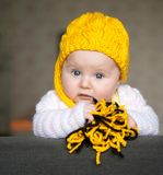 Pretty baby of tender Royalty Free Stock Image