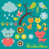 Pretty babyish elements stock illustration