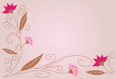 Pretty background. Featuring flowers in pink, girly colors royalty free illustration