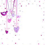 Pretty background with hearts and birds Royalty Free Stock Photography